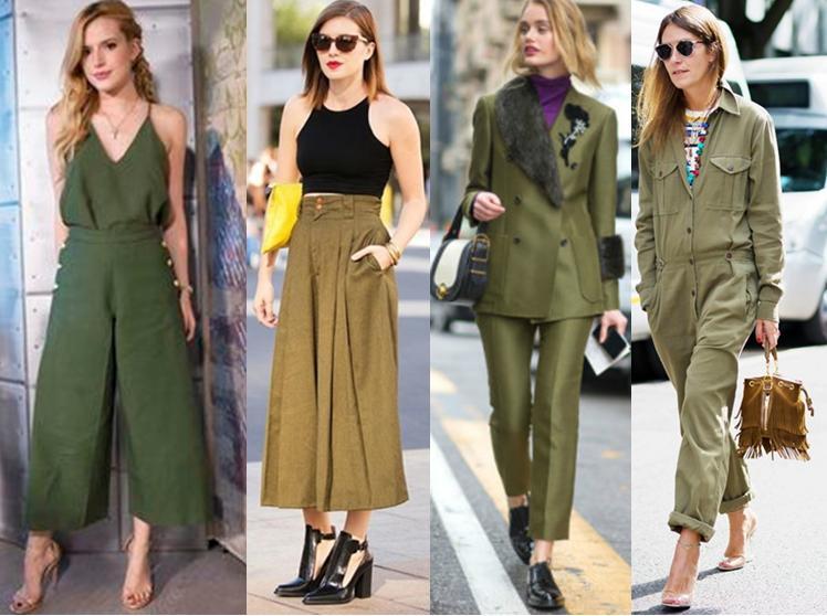 Looks do estilo militar