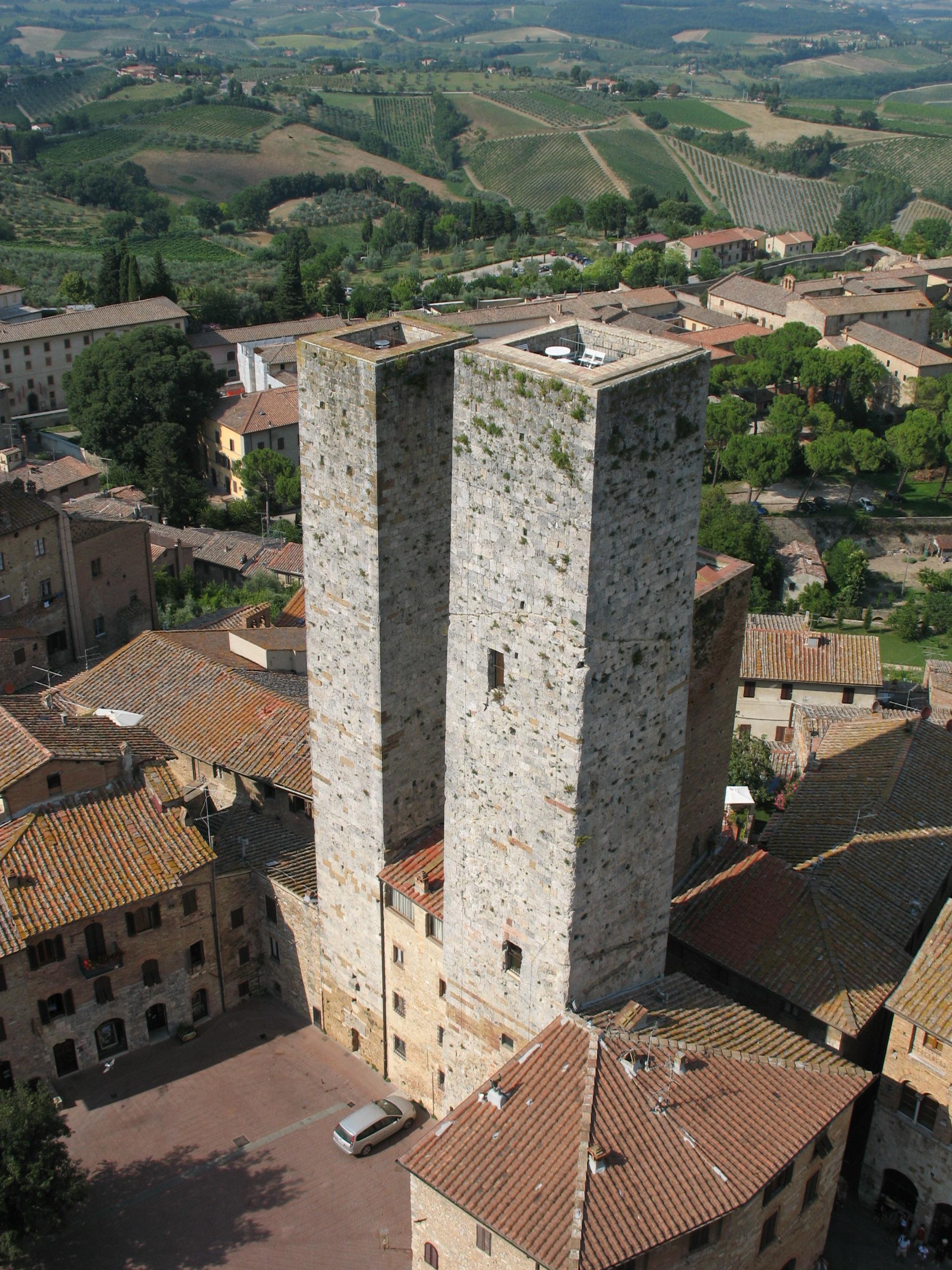 Vista da Torre Grossa em San Gimignano.