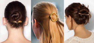 Penteados com prendedores de cabelo