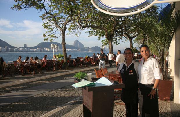 Confeitaria Colombo Forte de Copacabana no Rio.