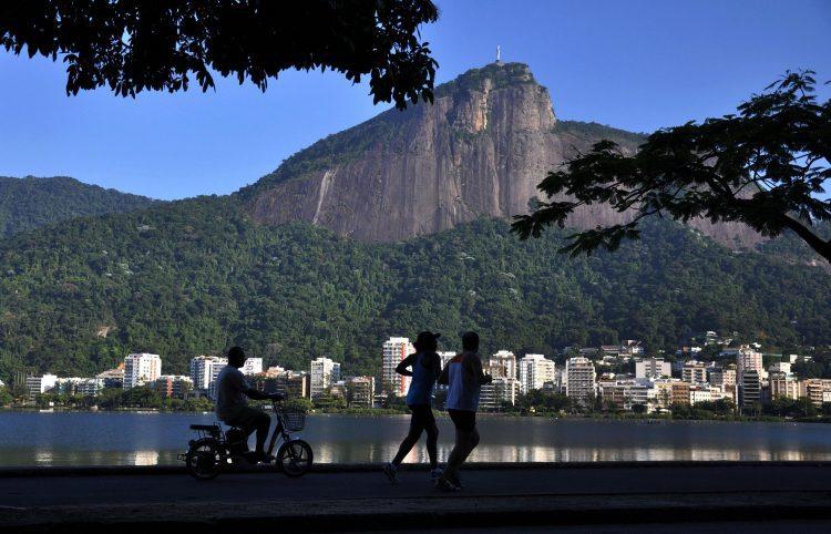Lagoa Rodrigo de Freitas no Rio de Janeiro.