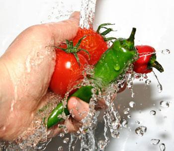 Lavagem de hortifrúti