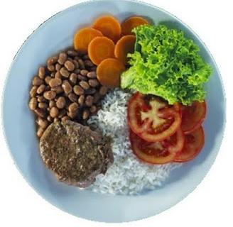 Prato colorido saudável