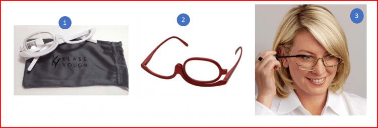 Óculos para maquiar