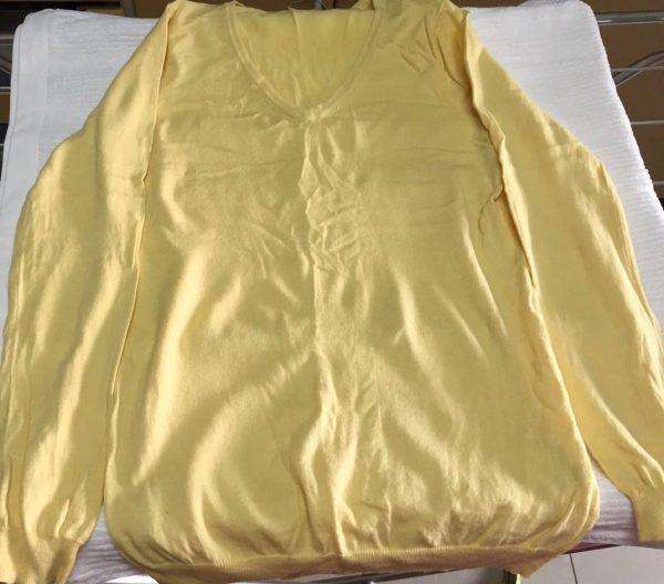 Cashemere secando sobre toalha