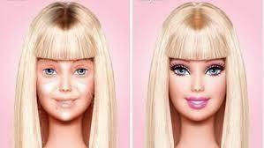 Celebridades sem make Barbie