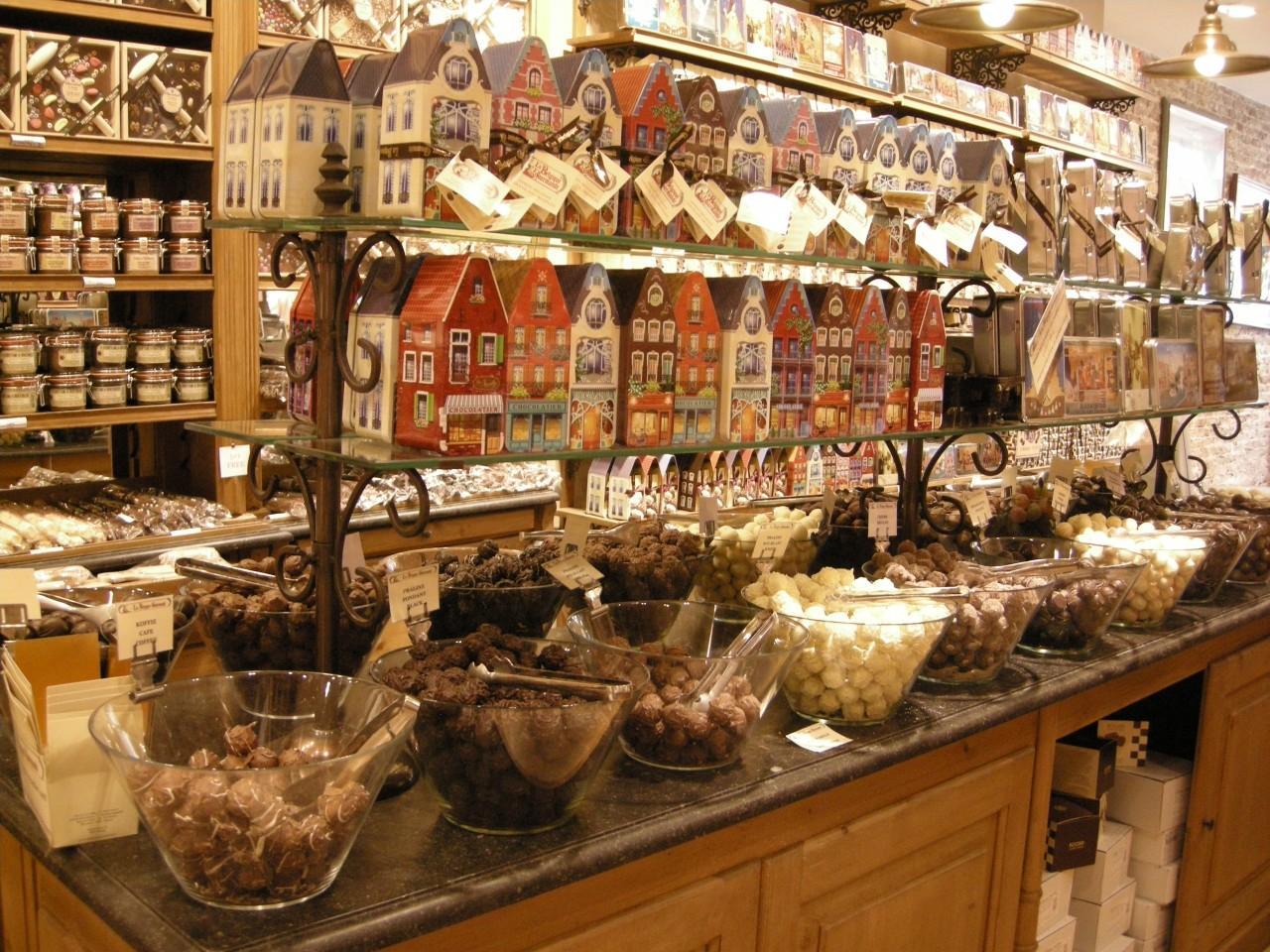 Loja de Chocolates em Bruges
