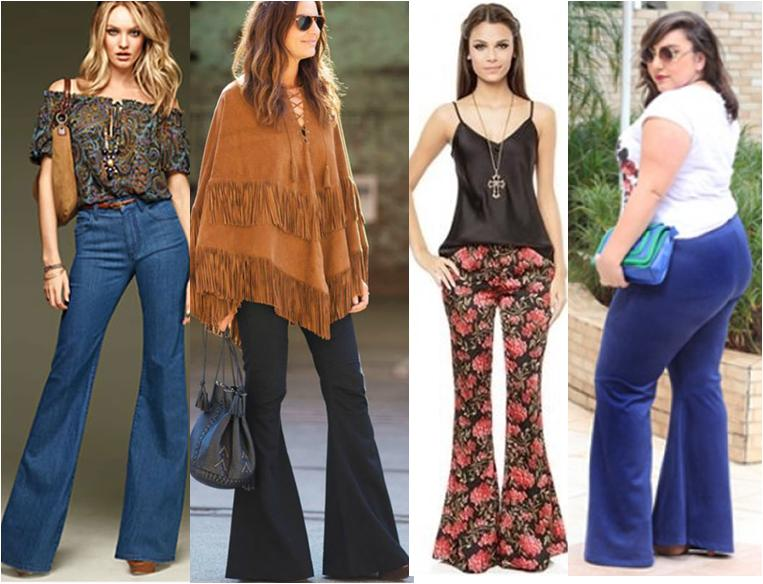 Moda nos anos de 1970 ou estilo hippie inspira o para o - Moda hippie anos 70 ...