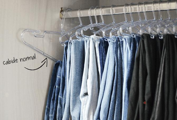 Como organizar o guarda roupa.