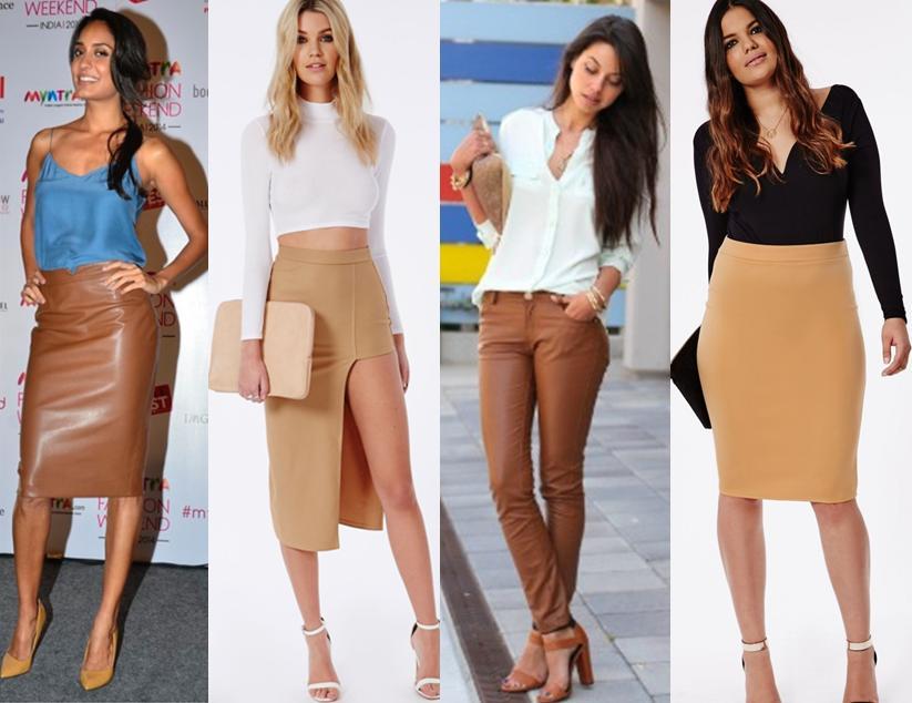 Quatro mulheres vestindo peças em tons de nude