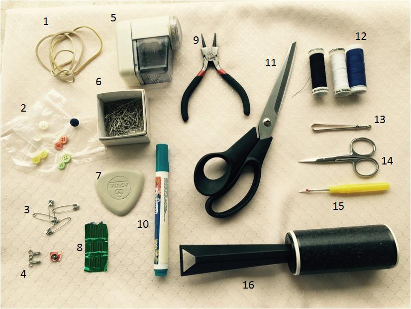 Kit de emergência para roupas