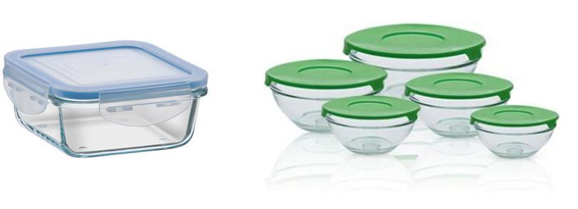 Potinhos de vidro com tampa