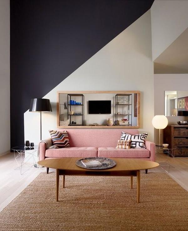 Cores de 2016 na decoração: Rose Quartz no sofá.