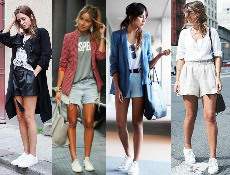 Como usar tênis branco com short