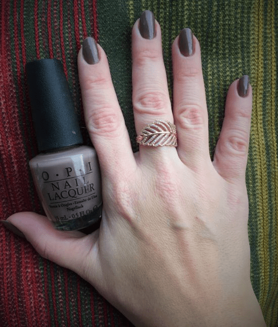 Over the Taupe OPI.