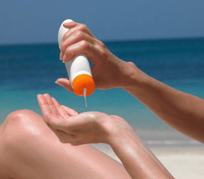Protetor solar oral e de aplicar na pele.