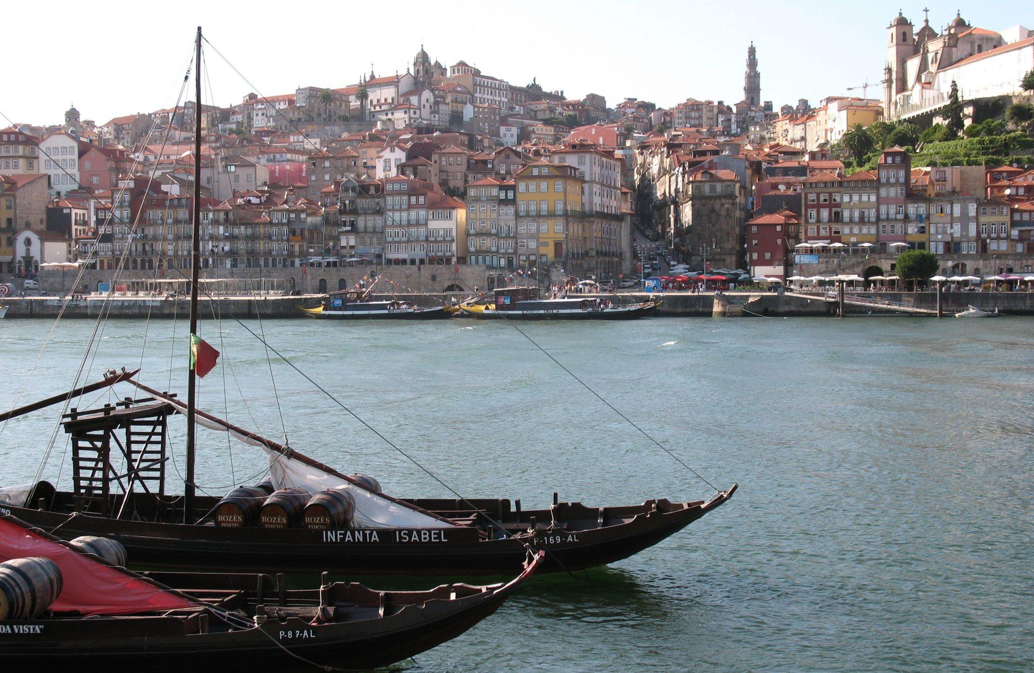Os rabelos da cidade do Porto.