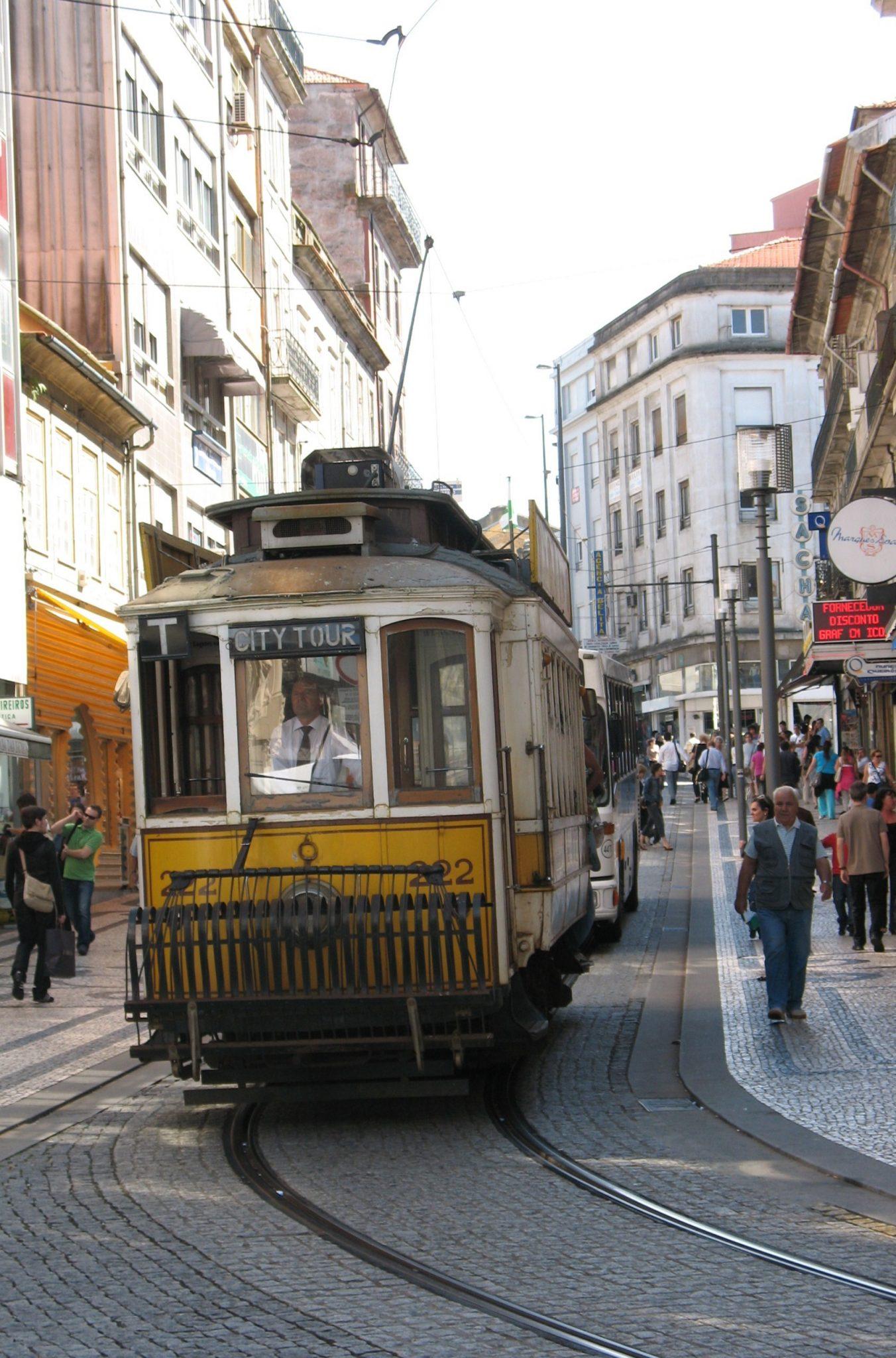 Bondinho da cidade do Porto.