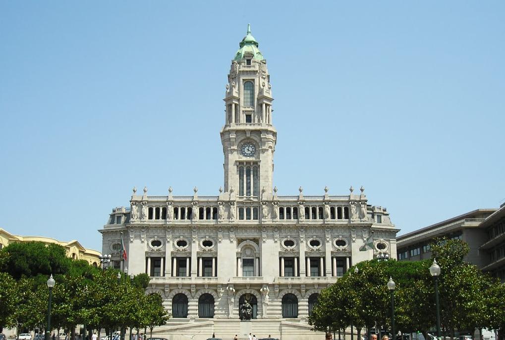 Prefeitura da cidade do Porto.