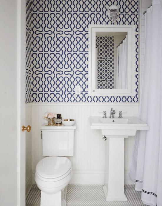 Papel de parede para banheiro.