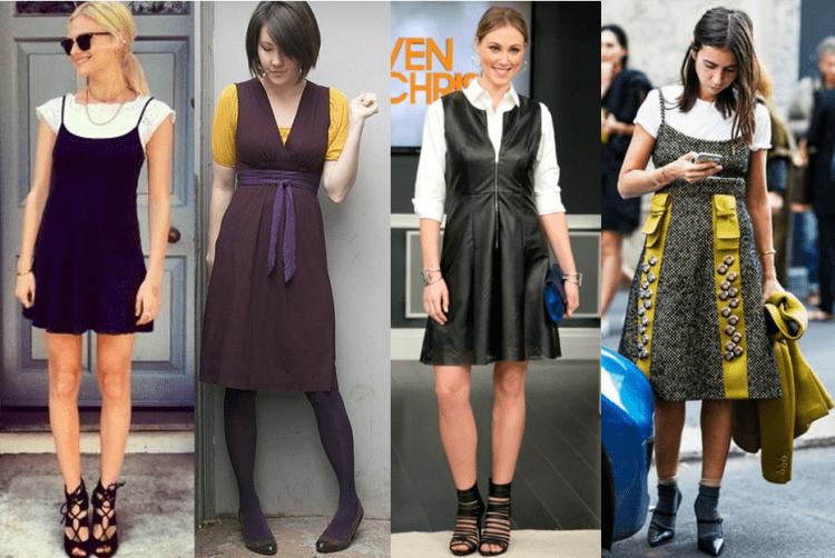 Sobreposição com vestido