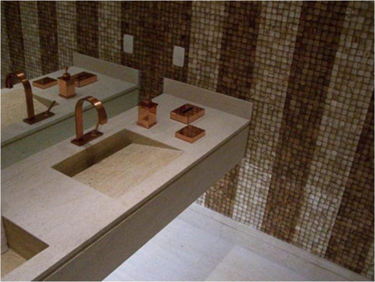 Decoração com rose gold: banheiro.