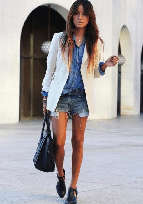 Como usar blazer branco.