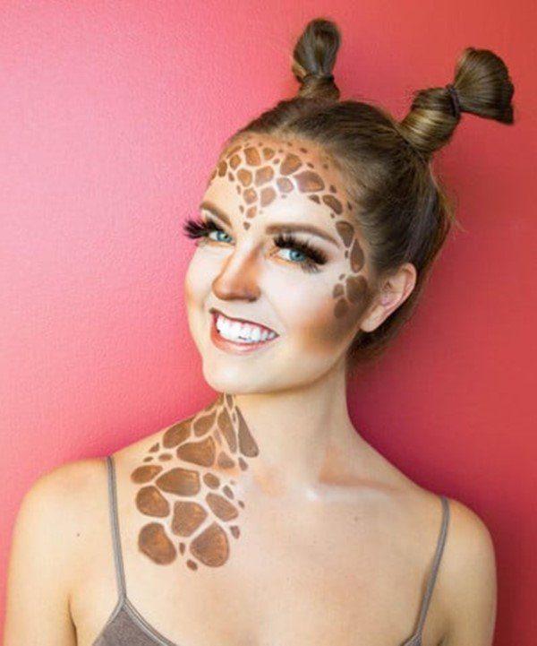 Girafa Maquiagem de Halloween.