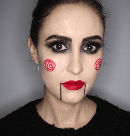 Maquiagem de Halloween.