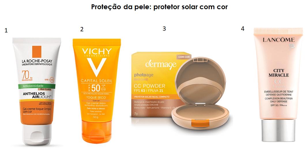Produtos para proteção solar.