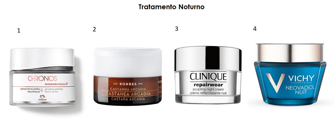 Tratamento noturno: produtos