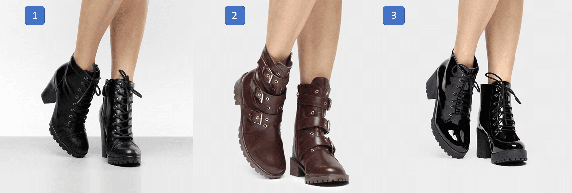 Sapatos que estão em alta