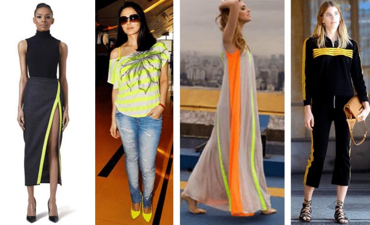 Cores fluor na moda.