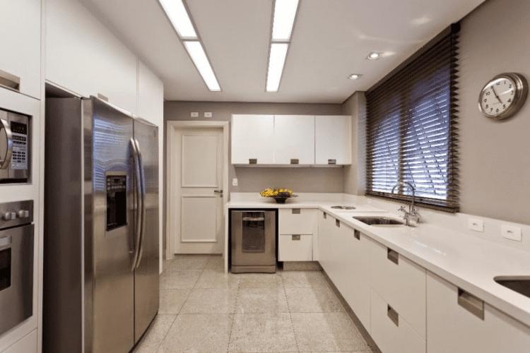 Medidas para a cozinha e sala de jantar