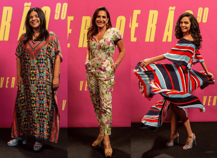 Produções de moda das celebridades globais.