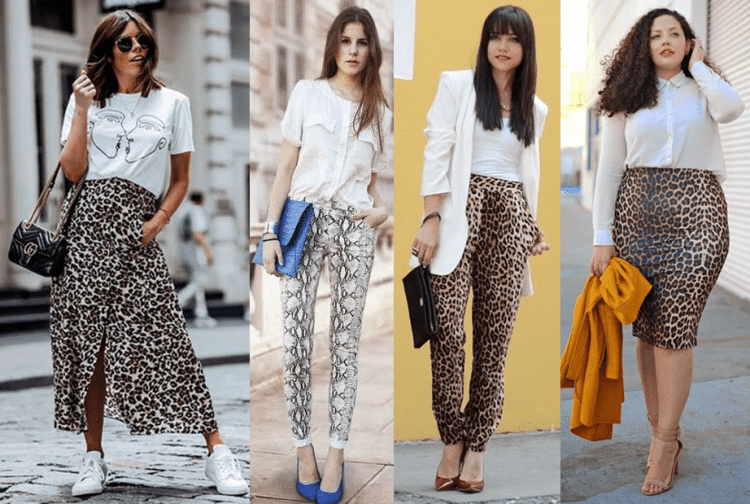 Como usar animal print com branco