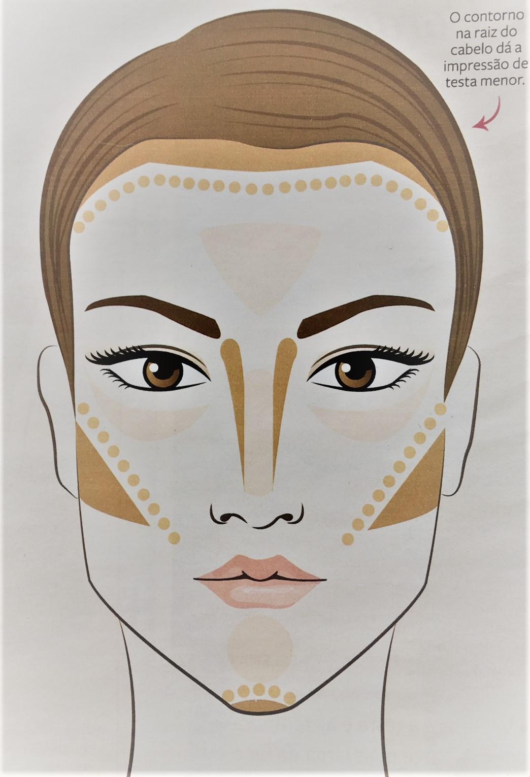 Como fazer contorno de maquiagem no rosto retangular.