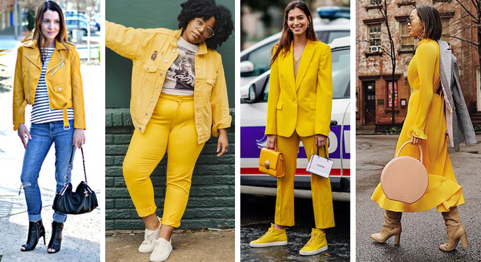 Looks com o Mellow- Yellow cor tendência de 2020
