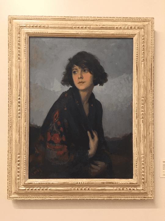 Mulher do xale verde - Pinacoteca de SP.
