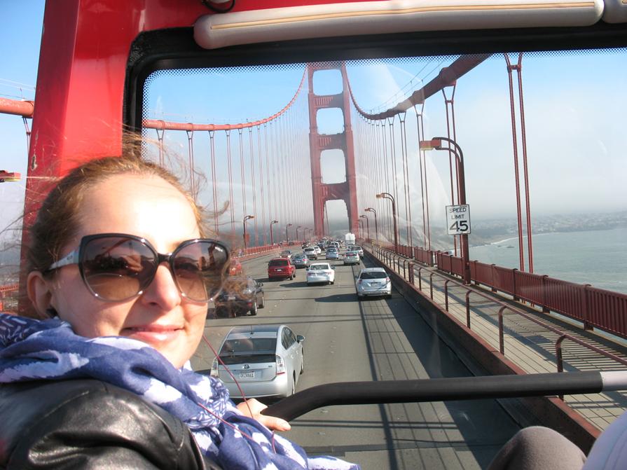 No Sightseeing pela ponte Golden Gate.