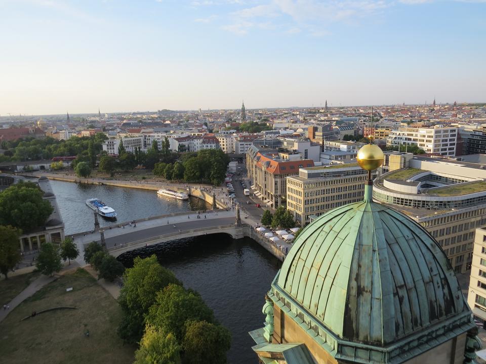 Vista da Catedral de Berlim.
