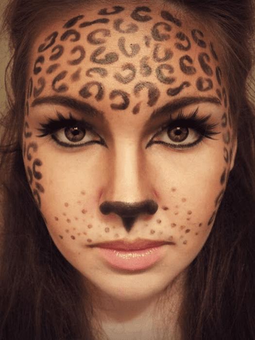 Maquiagem para Halloween: onça.