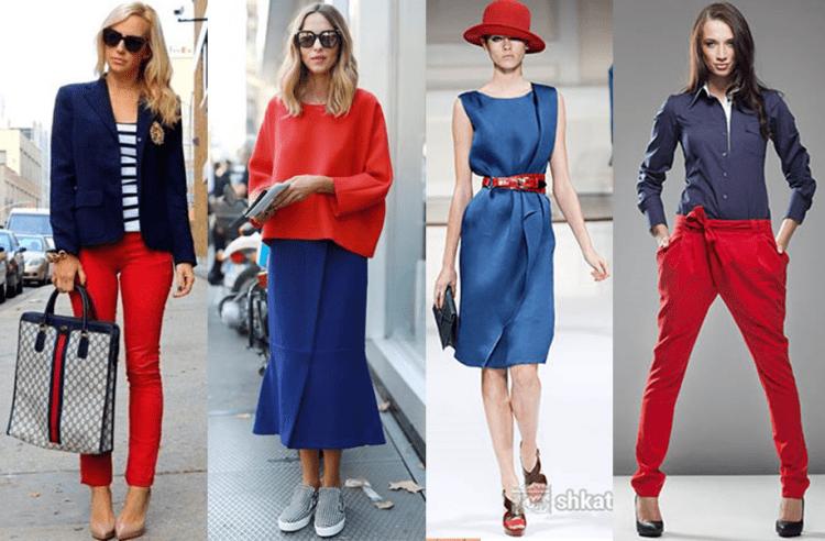 Classic blue com vermelho.