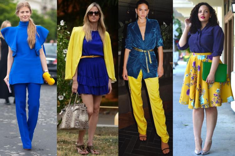 Looks com classic blue com amarelo.