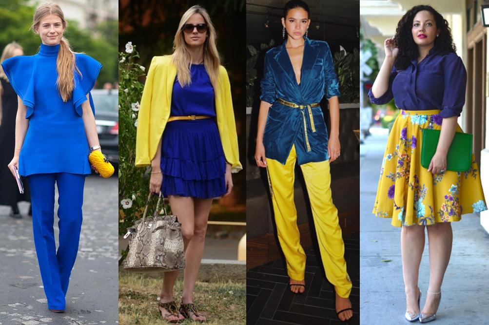 Classic blue com amarelo.