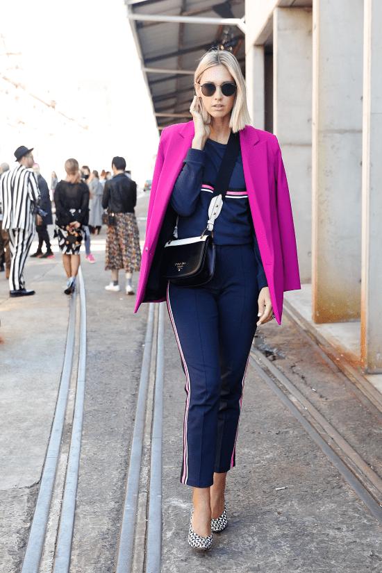 Looks azul marinho com rosa: se inspire nas produções.