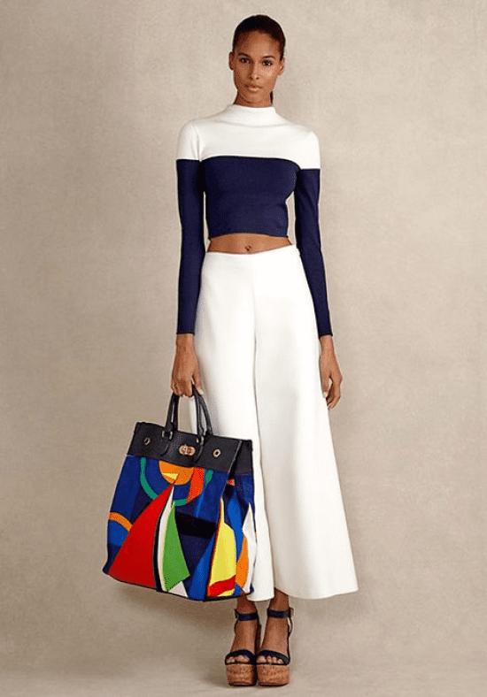 Looks azul marinho com branco: se inspire nas produções.