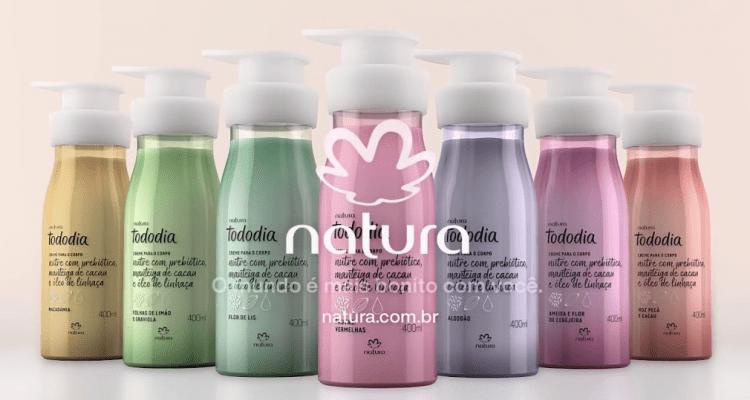Nutrição prebiótica Natura: nova linha de hidratantes de corpo.