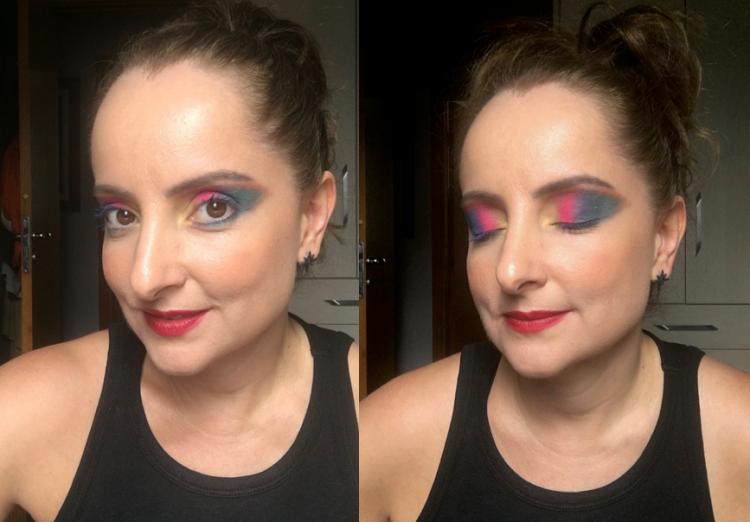 Maquiagem para carnaval.