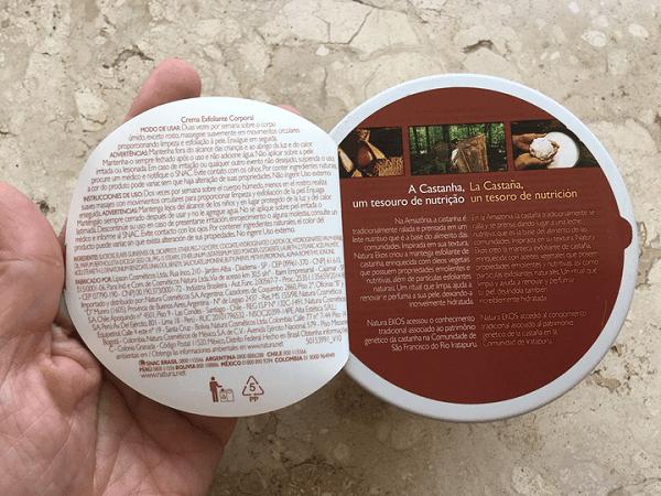 Esfoliação coporal: Manteiga Esfoliante de Castanha da Natura Ekos